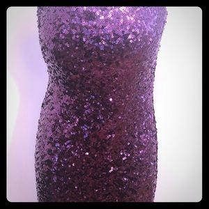 Forever 21 purple sequin cocktail dress